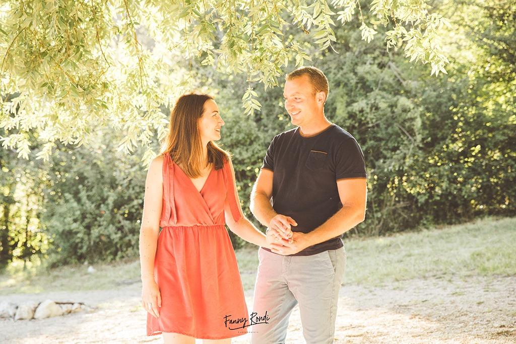 couple engagement Vouglans